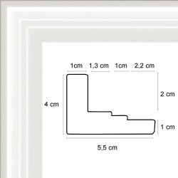 Caisse Américaine Double Escalier Blanc