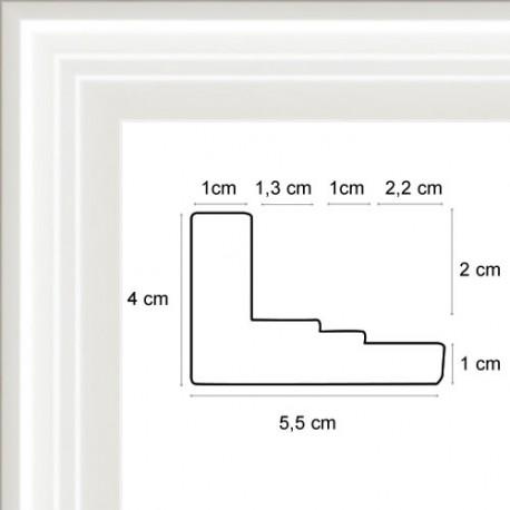 Caisse Américaine en Double Escalier Blanc
