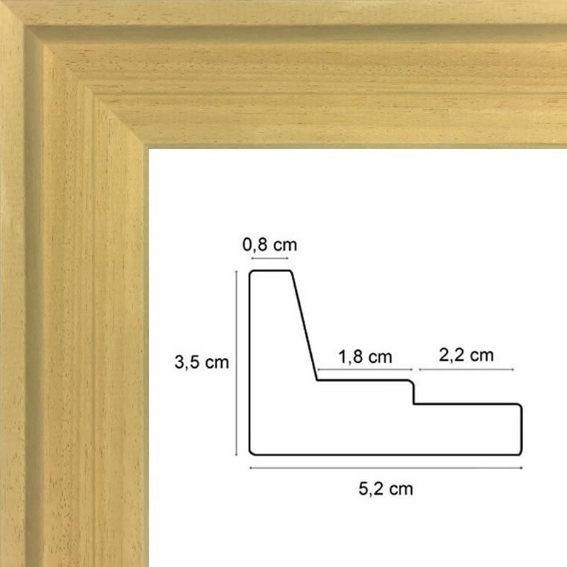 encadrement caisse americaine bois naturel vos mesures sur caisse. Black Bedroom Furniture Sets. Home Design Ideas