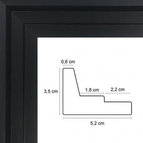 caisse americaine noire sur mesure encadrer une peinture sur toile sur caisse. Black Bedroom Furniture Sets. Home Design Ideas